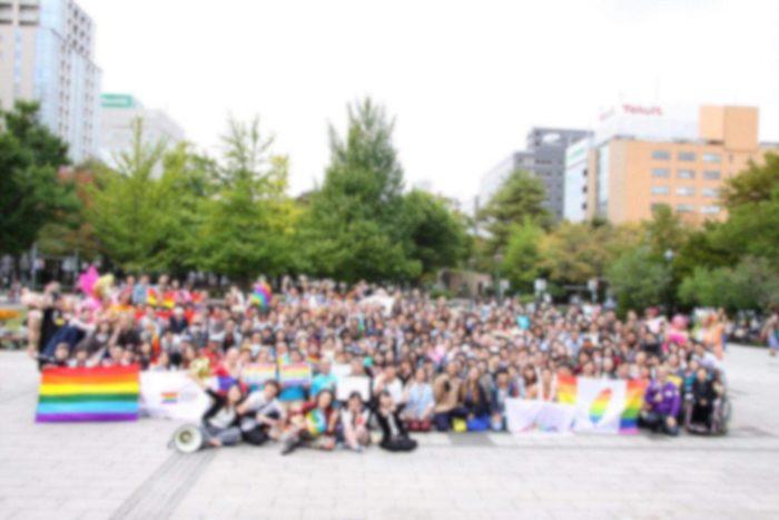 札幌市内でパレードを主催した時の写真です。