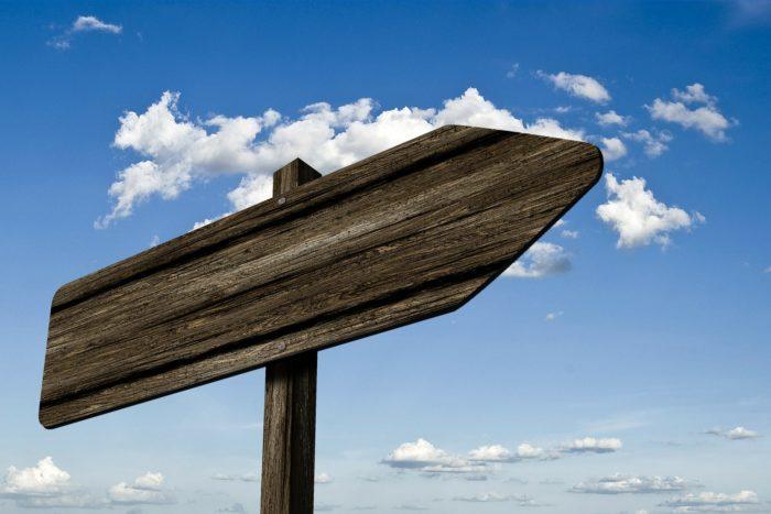 方向を示す矢印